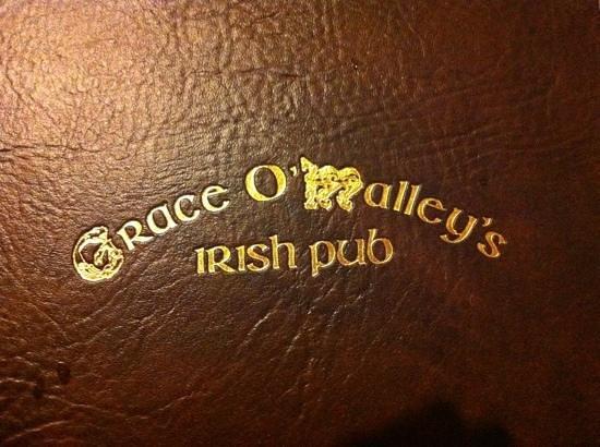 Grace O'Malley's Irish Pub : Menu Cover