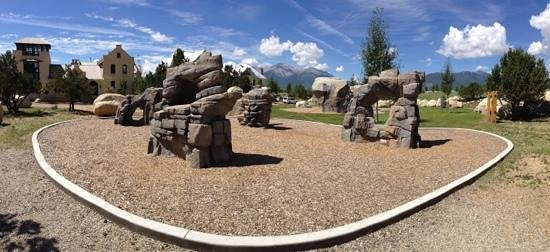 Buena Vista River Park : Fun rock climbing park is next to the trails.