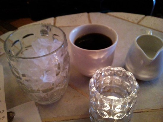 Los Huesos: Self-serve Iced Coffee (it gets messy...)