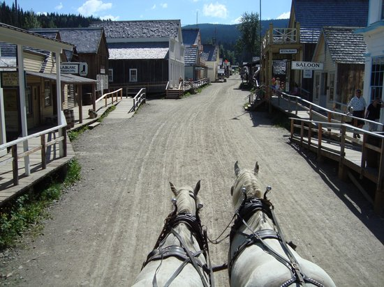Barkerville Historic Town: View from top of stagecoach