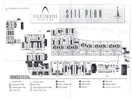 Villa Seminyak Estate & Spa : Seminyak Estate villa location map
