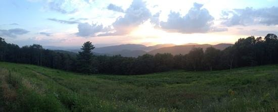 Massanutten Resort: skyline drive at sunset