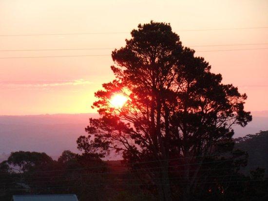 Norwood Mountain Lodge : Sunset Over Kanimbla Valley