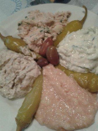Hotel Restaurant Lefka Ori : salsine greche