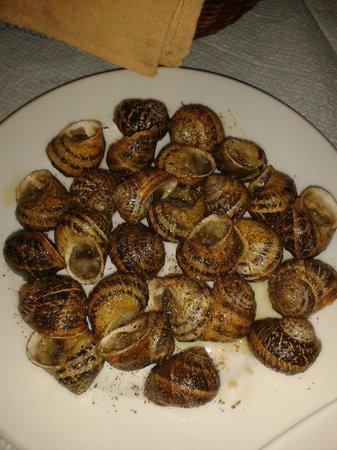 Hotel Restaurant Lefka Ori : lumache