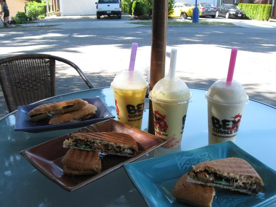 Galloping Goose Regional Trail: Great lunch at Bex Bubble Tea & Espresso