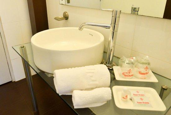 Hotel Rama Krishna: Bathroom