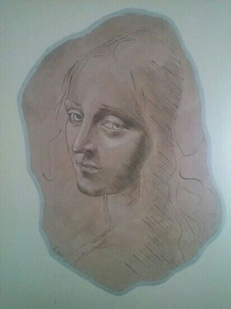 XII Apostel Albergo Hotel: Wandmalerei im Zimmer 402