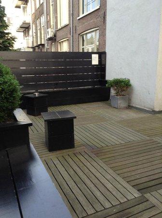 Hotel Cornelisz: Toll, die Terrasse, wo auch geraucht werden darf