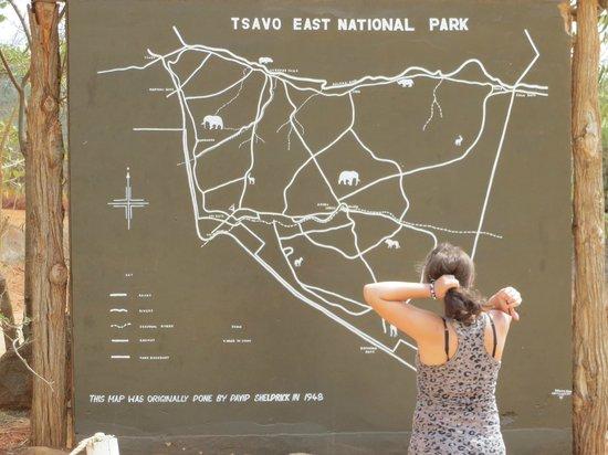 Voi Safari Lodge: Eingang Tsavo East