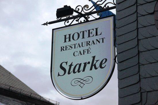 Hotel Starke: enseigne