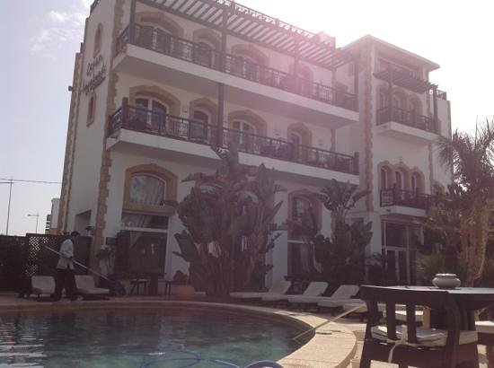 Hotel Ocean Vagabond Essaouira: view from the sun bed