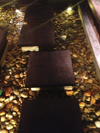 Bla Bla Bla : Stepping stones to the dining area