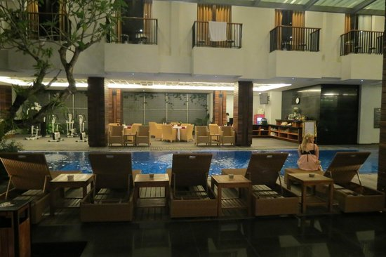 PING Hotel Seminyak Bali: View from lobby area