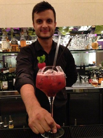 Rockwell at The Trafalgar: Richard with his speciality