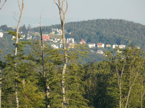 Sophienalpe: Вид на город с площадки у отеля