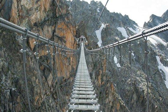 Passo del Tonale, Italia: Uno dei due ponti sospesi lungo il sentiero dei fiori