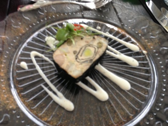Knock Castle Hotel & Spa : Scallop and smoked mackerel terrine