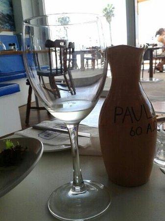 Paulus Restaurant: local wine