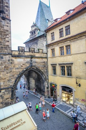Charles Bridge Economic Hostel: View from room