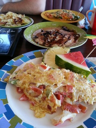 Maria's Family Place: Crabby Omelette and Mediterranean Omelettes