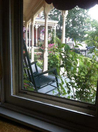 Brickhouse Inn Bed & Breakfast: The view from the Texas Room