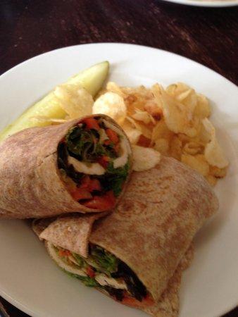 Palm Coast Coffee, Cafe and Pub: Thai Chicken Wrap