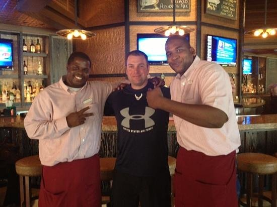 Virgil's Real BBQ : Visit the best bartenders, Valentino and Travis, at Virgil's!  They are famous!