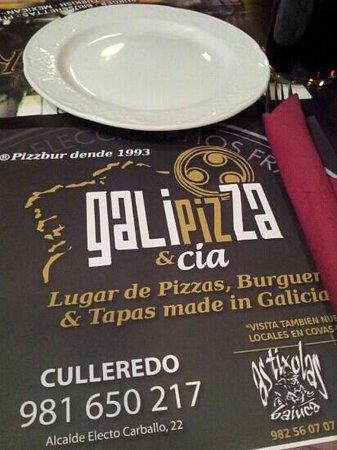 Galipizza & Cia: Carta