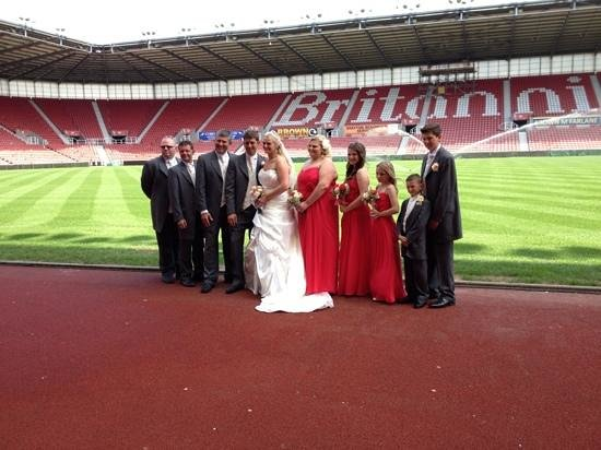 Britannia Stadium: amy&karl's wedding