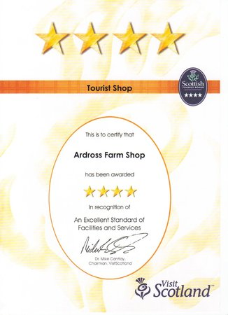 Ardross Farm Shop: 4 stars!