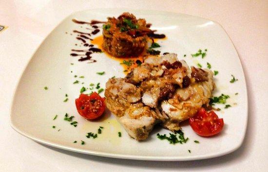 Syraka Sicilian Restaurant: alalonga in agrodolce con caponatina