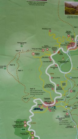 Cameron Highlands Trail No. 10: Route map