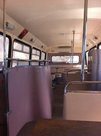 Croq ' en Bus: vue de l'intérieur du bus