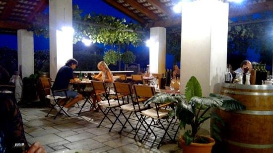 cena in terrazza... - Picture of Belica, Dobrovo - TripAdvisor