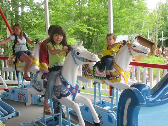 Story Land: Carousel has rocking horses instead of up & down