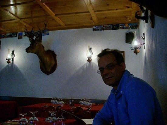 Ristoro Fopél: interno ristorantino