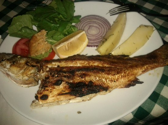 Bahce Balik Restaurant: Main course, small fish