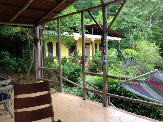 Rancho Armadillo Estate: View of Cacique room from communal veranda