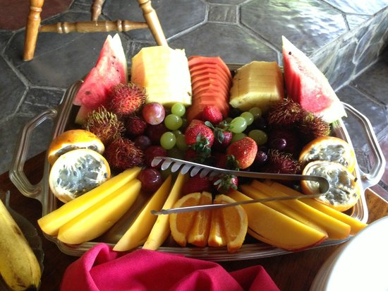 Rancho Armadillo Estate : Fresh fruits at breakfast