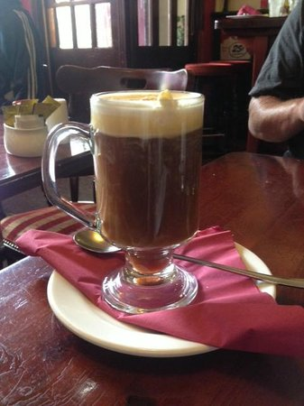 Fahy's Bar and Restaurant: irish coffee with incredible cream on top