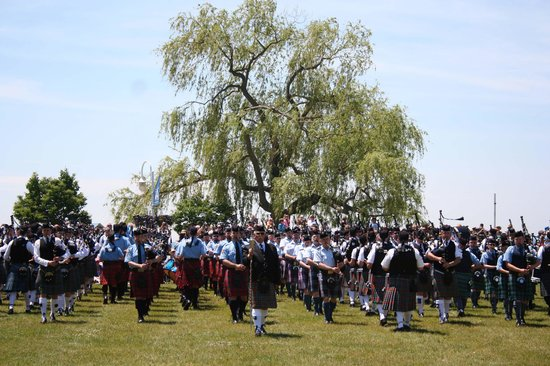 Cobourg Beach: The Massed Pipes and Drums Opening Ceremonies