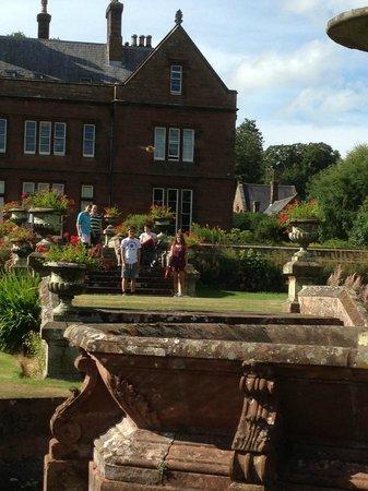 Staffield Hall: Looking back at the house