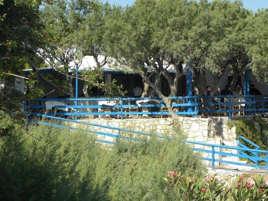 Kakkos Bay Hotel : taverna vista dalla spiaggia