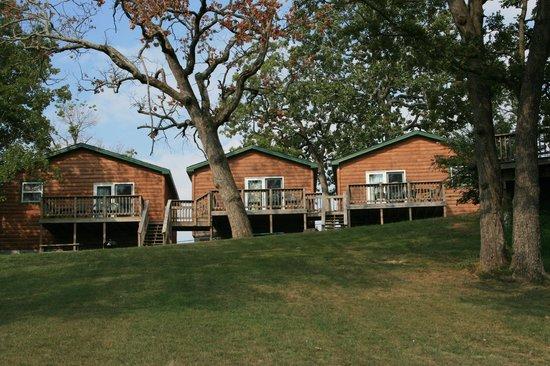 White Wing Resort: Log Cabins Backside
