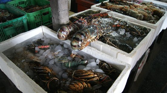 Jimbaran, Indonesia: Рыбный рынок в Джимбаране