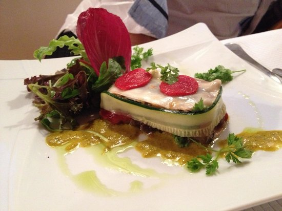 Villa Ilbarritz: Lasagnes d'anchois (entrée)