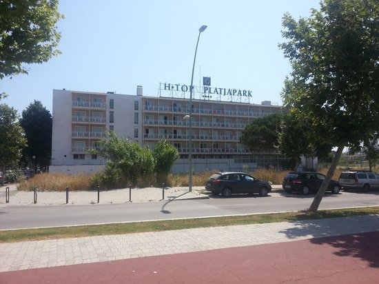 H.TOP Platja Park: Our room was on this side of the hotel