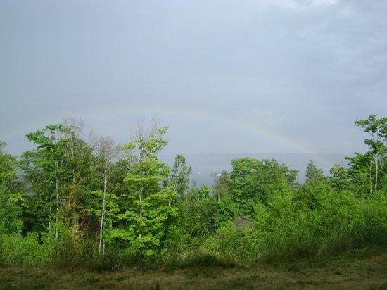 Holiday Inn Express Munising -  Lakeview : Rainbow over Lake Superior