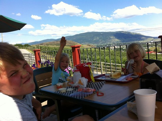 Davison Orchards Country Village : Lunch on the patio at Davison's